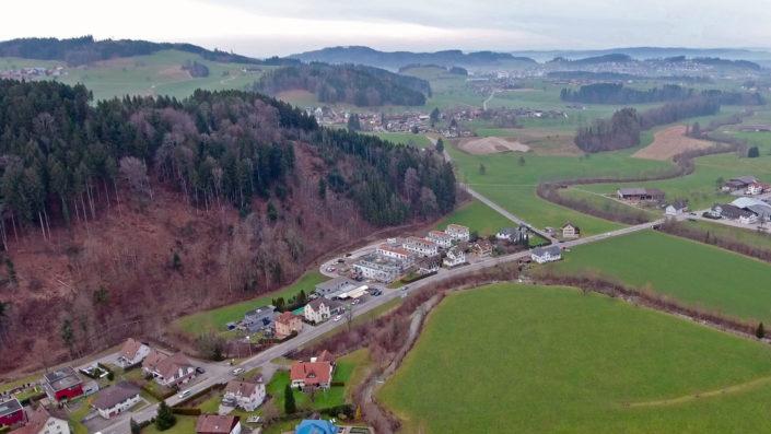 Im Hasel Dussnang – Aufnahme mit Drohne Januar 2018